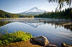 You can hear the Air. (Omygodtom) Tags: wild mountain lake mountains nature season nikon portait mthood setting trilliumlake d7000 18105lens