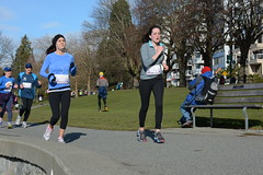 First Half Feb 16 2014 101535 (gherringer) Tags: canada vancouver race outdoors athletics downtown bc exercise britishcolumbia competition running seawall runners englishbay stanleypark colourful westend fit active bibs 211km 131mi vanfirsthalf