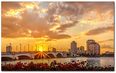 The Royal Palm Beach Bridge Sunset (jeannie'spix) Tags: florida westpalmbeach palmbeach royalpalmbeachbridge