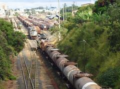 16147 Manobras com trem D744 em Uberlndia MG (2 de 6).  U22C #2808 + DDM45 #856 no trem e BB40-2 #6503 + 8145 na Linha 3 (Johannes J. Smit) Tags: brasil vale trens fca vli