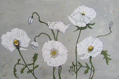 poppies (emillie elizabeth palmer) Tags: flowers plants art painting paint acrylic drawing poppies micron