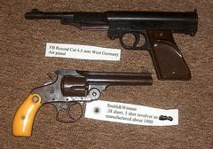 Antique revolver (Howard33) Tags: gun antique ivory smith weapon pistol pocket revolver grip pellet wesson howard33