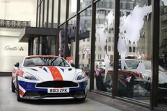 Yep (tWm.) Tags: london car jack cross martin thomas flag union wrap super mein charing supercar aston v12 vanquish 2014