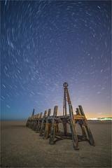 Into The Vortex (Chris Beard - Images) Tags: uk england night dark stars landscape lancashire lytham oldjetty atannes