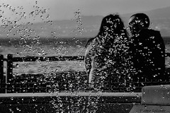 Love and drops in low key (PietroEsse) Tags: blackandwhite fountain drops lowkey biancoenero castellammaredistabia canonpowershots3is