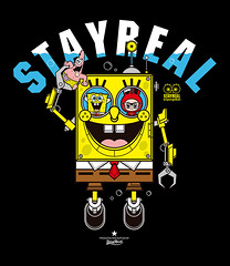 2014 STAYREAL x Spongebob (Nikistyle) Tags: plant cute art fashion logo fun idea design robot colorful artist cartoon tshirt submarine spongebob create visual brand niki lovable stayreal nikistyle