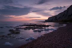 Sunset over the beach at Saltdean, East Sussex (Laurence Cartwright) Tags: uk sunset sea england beach sussex brighton hove cliffs saltdean laurencecartwright