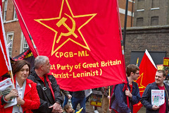 Workers Mayday 2014 London (Communist Party of Great Britain(Marxist-Leninist)) Tags: lenin london turkey demo birmingham communism mao marx che banners mayday anonymous fit stalin iww ussr hammerandsickle anarchists workingclass bectu redflag kurds unison gbr kke etxera metropolitanpolice may1st iaf bjk tradeunions rmt aslef antiimperialist imperialist partizan blackblock theinternational industrialworkersoftheworld kgo occupy mlkp kne tkp bobcrow lalkar westmids dprkorea marxismleninism cpgbml communistpartyofgreece gikder internationalworkersday frontlinesocialistpartysrilanka iranianpeoplesfedaeeguerrillas cubaaf tucsouthernandeasternregion mayday2014 yenkadin mahirdendayiya wrongacom