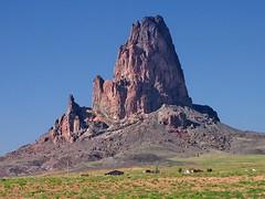 Agathla Peak (2) (AntyDiluvian) Tags: road arizona volcano lava highway desert sacred plug spike navajo monumentvalley navaho diatreme us163 agathlapeak