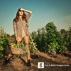Summer biologic portraits. (Francesco Carta) Tags: shadow summer sky people italy food cloud sunlight colour nature beauty vegetables horizontal shirt standing outdoors photography holding flora nikon day sardinia adult flash fulllength longhair heat land lonely trashcan sensuality youngadult wicker adultsonly oneperson lookingaway frontview caucasian tempio checked brownhair d300 17mm oneyoungwomanonly onlywomen francescocarta onlyonewoman 2529years