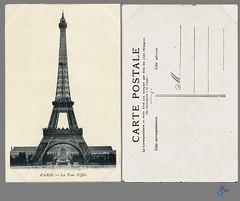 PARIS - La Tour Eiffel (bDom) Tags: paris 1900 oldpostcard cartepostale bdom
