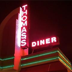 The #Excellent #ThomassHamAndEggery #Diner At #Night #LongIsland #NewYork #Hogophoto  #USA #Neon #NeonSign #January #2015 (hogophotoNY) Tags: cameraphone food usa 6 ny newyork digital square us yummy neon unitedstates weekend vibrant landmark longislandny longisland eat squareformat newyorkstate nassau ludwig eastcoast nystate iphone breakfastfordinner longislandnewyork hogo brrakfast hogophoto iphoneography iphone6 greatbreakfastplace instagramapp uploaded:by=instagram hogophotony