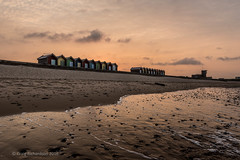 Beach Huts Sunset (Craig Richardson) Tags: sunset sea beach water clouds sand huts northumberland d750 northeast blyth 2470mm