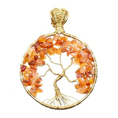 Carnelian Tree of Life (messaroo) Tags: austin gold handmade jewelry pendant treeoflife atx carnelian wirewrapping handmadejewelry wirewrapped wirewrap wirewrappedjewelry handmadependant thebeadstash jessicablackwell