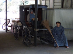 Hitch Your Wagon to a Bar (Steve Taylor (Photography)) Tags: art mannequin bar wagon model carriage cross sandals monk replica tied sleigh brilliant broom