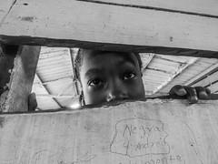 School (felipebeatle) Tags: school bw river eyes colombia child afro choc atrato quibd