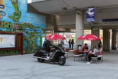 MyyrYork-MikesDiner (Bergolli) Tags: people streetart streetphotography motorcycles victory railwaystation motorcycle society vantaa mikko nakki myyrmki mikesdiner myyryork humansofmyyryork nakkimikko unkolordistant pussymc