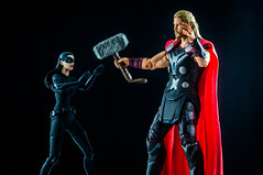 0499-134 The Cat and the Thundergod (misterperturbed) Tags: thor marvel catwoman avengers thedarkknight marvelselect diamondselect mafex thedarkknightrises avengersageofultron