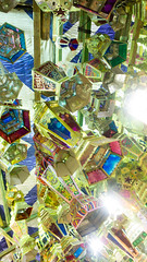 Hanged Ramadan lanterns (Kodak Agfa) Tags: egypt citizenjournalism cairo ramadan ramadan2016 lanterns ramadanlanterns mideast middleeast africa northafrica sayidazeinab markets