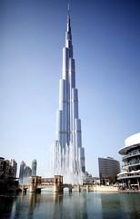 Burj Khalifa (Dreamcatcher photos) Tags: bridge water fountain architecture mall outside dubai unitedarabemirates tallestbuilding dreamcatcherphotos