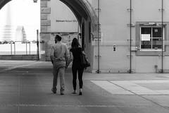 (John fae Fife) Tags: street blackandwhite bw couple noiretblanc candid streetphotography nb luxembourg grund neumunster xt1 fujifilmx