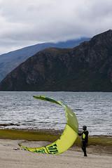 Hold on Tight (Jocey K) Tags: autumn newzealand sky people mountains clouds wind autumncolours southisland centralotago windsurfing windsurfer lakewanaka tripdownsouth