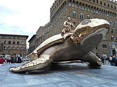 """Searching for Utopia"" - silicon bronze (2003) by Jean Fabre (Antwerp 1958) - Temporary exhibition at Piazza della Signoria in Florence (* Karl *) Tags: italy florence firenze jeanfabre"