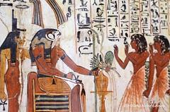 Isis and Rahorakte (konde) Tags: wood ancient tomb goddess isis osiris hieroglyphs deirelmedina maat tt1 newkingdom 19thdynasty sennedjem rahorakty