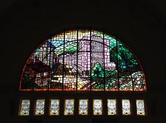 (h.a.i.k.e.) Tags: window thringen fenster architektur glasmalerei colourful glas bunt eisenach kunstambau lichtschatten empfangshalle glasmosaik ludwiggriesinger umfruhla