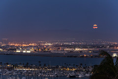 The Summer Solstice Strawberry Full Moon over San Diego (slworking2) Tags: california moon us unitedstates sandiego fullmoon strawberrymoon