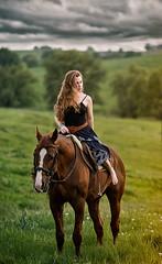 Distant Lands (Constur) Tags: portrait horse animal clouds canon evening spring outdoor telephoto 70200 horseback 5d3