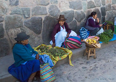 Peruvian Farmers Market (cheryl strahl) Tags: peru southamerica fruits vegetables colorful farmers market streetscene communication friendly selling interaction sacredvalleyoftheincas urubambavalley