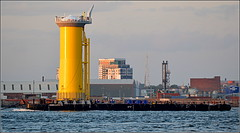 Wind Farm Turbine Base,River Mersey Liverpool 1st June 2016 (Cassini2008) Tags: liverpool rivermersey portofliverpool cammelllairds windfarmturbines damenbarge102
