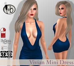 Vivian Mini Dress - 5 colors (candi1223) Tags: low cut sexy secondlife backless mesh hair catwa lelutka maitreya