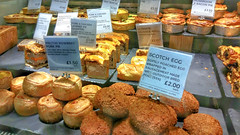 Pies, Pasties & Rolls. (ManOfYorkshire) Tags: ms marksandspencer food deli counter shop store york monkcross pasty pasties pastry pie pies rolls scotcheggs display market upmarket pork sausage meltonmowbray ultimate chicken layered mushroom bacon ploughmans