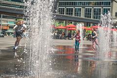 Splash Pad (David Timchuck) Tags: summer toronto water 50mm nikon streetphotography d750 dundassquare splashpad 50mmf18g nikonfx davidtimchuck