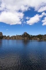 Sylvan Blue (s.d.sea) Tags: park travel lake black clouds forest landscape outdoors spring state pentax south roadtrip hills boulders national dakota sylvan custer