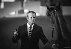 (Jen MacNeill) Tags: blackandwhite bw man lexington ky halter handler equine horseman straightegyptian