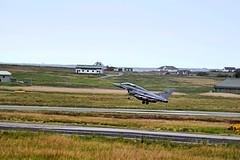 Jet 3 Wheels Up (CraigAllanPhotography) Tags: island airport stag wildlife jets hunting scenic deer planes deers isleoflewis freerange stags stornoway fighterjet landings italianmilitary wildlifestag