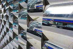 Reflections in shop window, London, UK (John A Briody) Tags: uk london metal reflections nikon shiny metallic repetition d750 shopwindow curved