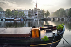 Amsterdam (Neal J.Wilson) Tags: travel holland netherlands amsterdam boats dawn nikon europe cities houseboat canals d3200