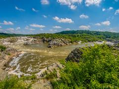 Potomac River View (jiroseM43) Tags: nature river lumix greatfalls fisheye waterfalls potomac potomacriver 75mm greatfallsnationalpark rokinon gx7
