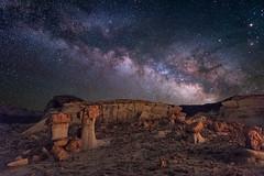 Red Topped Hoodoos in the Valley of Dreams (Wayne Pinkston) Tags: visipix