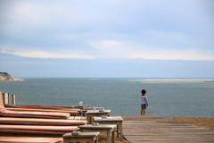Face  la mer (Nadia L*) Tags: beach dune plage pyla bassindarcachon bancdarguin lacoorniche