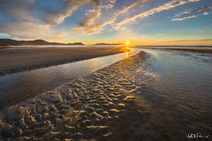 """Bream Creek"" (Kate Caston) Tags: sunset seascape beach creek ripple australia tasmania marionbaybeach"