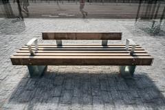 Three Modern Wooden Benches (pni) Tags: people metal suomi finland bench person helsinki pavement being multipleexposure human helsingfors tripleexposure multiexposure skrubu 3of1 pni pekkanikrus threeofsomething
