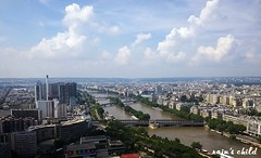 view from level 2 of the eiffel tower, paris (rain's child) Tags: travel paris france eiffeltower aerialview toureiffel traveling