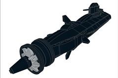 SSX-Dragonfish-MOD2-003 (Dragonov Brick Works) Tags: lego submarine snot ldraw microscale studless