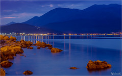 Gaeta Evening Blues (AdelheidS photography (at work in Norway now)) Tags: blue italy night italia bluehour gaeta
