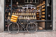 Amsterdam Cheese Store (Monika Kalczuga (v.busy)) Tags: holland netherlands dutch amsterdam bike bicycle cheese vehicle typical tore typicaldutch